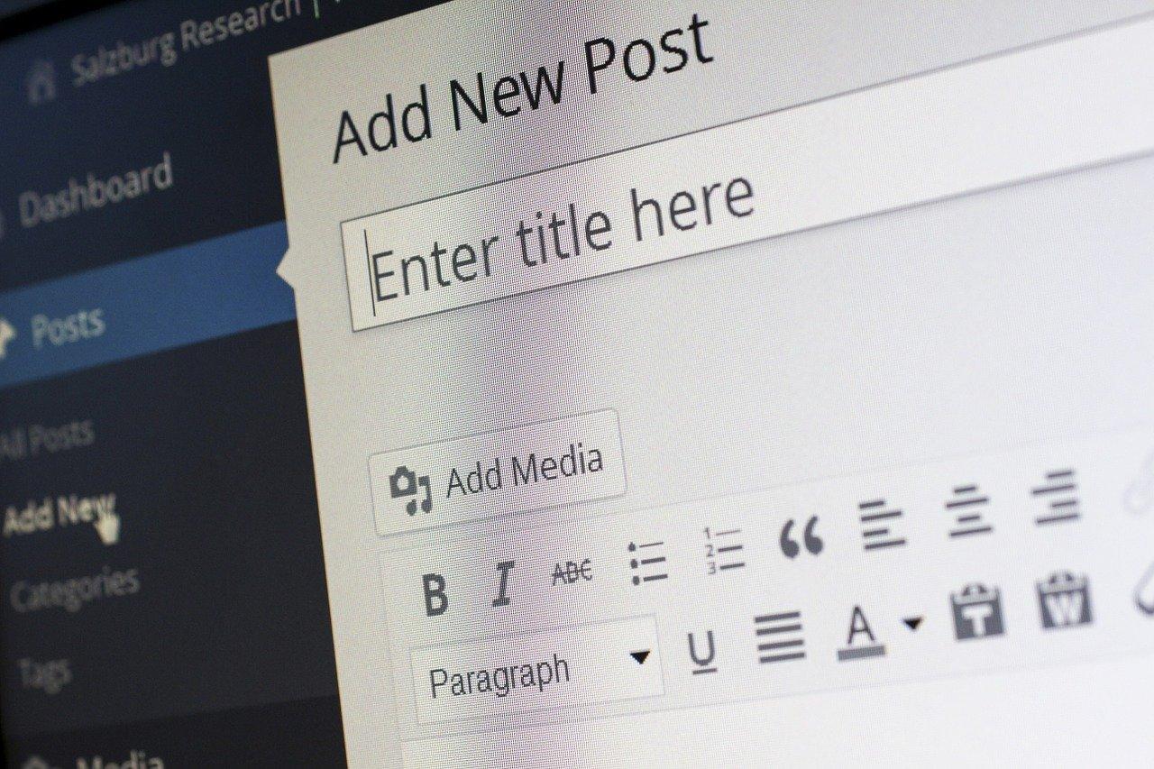 ブログのタイトルを入力