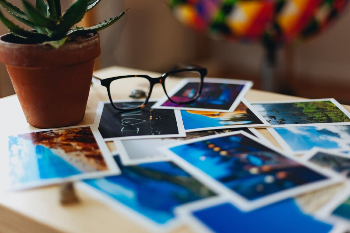 写真とメガネ