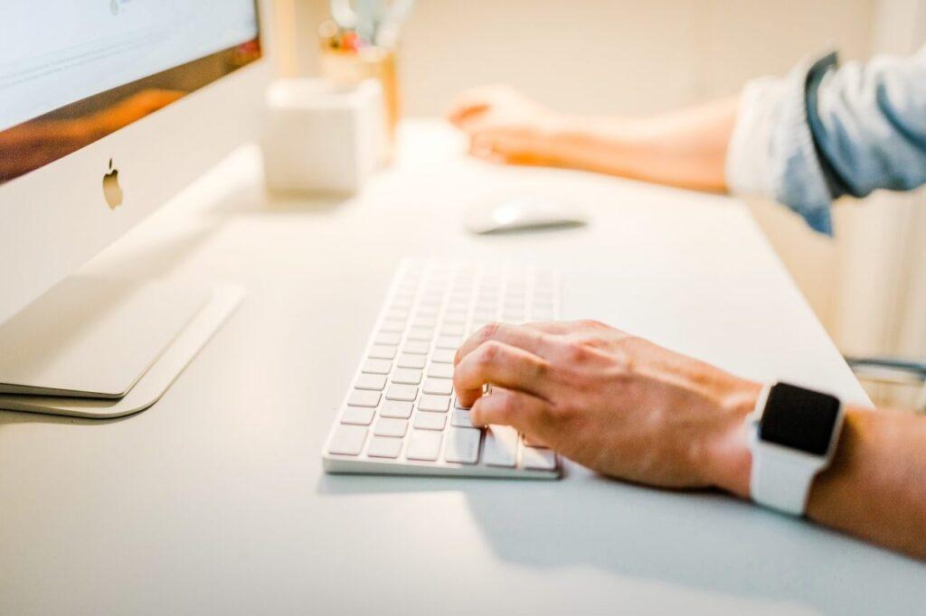 iMacとキーボード